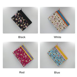 Zipper Bag A5 Double Layers Zipper Pouch Storage Bags Office Document Bags Document File Pocket, Colour Random