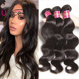 UNice Hair Raw Indian 4 Bundles Body Wave Virgin Human Hair Extensions Brazilian Human Hair Weave Wet And Wavy Peruvian Cheap Bulk Wholesale
