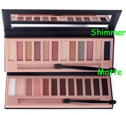 Makeup 12 Color Smoky Earth Eyeshadow Nude Matte AND Shimmer Color Palette Nutural Cosmetic With brush kit