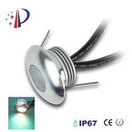 1W LED Footlights, DC12V Recessed Conner Light, IP67 Outdoor Lamp Cut 30mm, Floor Wall Lighting With Epistar Chip 8pcs  lot