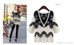 PT9 women top lace up summer eurpoe style blouse v neck cotton