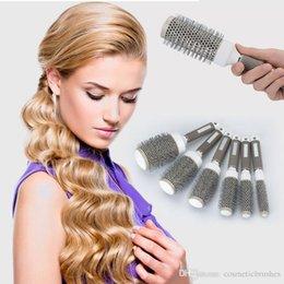 Mybasy New high quality 1pcs Hair styling ceramic circular comb tool nylon curling hair combFor everyone