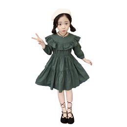 Freight - free girls skirt 2018 spring dress new Korean children's spring and autumn solid color cotton princess skirt
