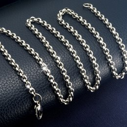 50cm Stainless Steel 4mm Silver Tone Ring Link Chain Necklace n305