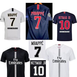 2018 19 PSG soccer Jersey 2018 2019 BUFFON DI MARIA VERRATTI MBAPPE PSG HOME AWAY football Shirts