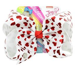 8 Inch Jojo Siwa Hair Bow With Clips Papercard Metal Logo Girls Giant Rainbow Rhinestone Hair Accessories Hairpin hairband