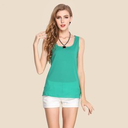 2018 summer, European and American fashion women's clothing, pure color chiffon blouse, sling undershirt, ladies' sleeveless underwear