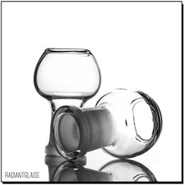Clear glass dome 14.5mm 18.8mm glass wapter pipe dome glss bong male jiont cheap price Manufacturer