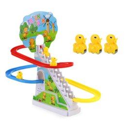 Factory Selling Ducklings Electric Track Climbing Staircase Puzzle Toys