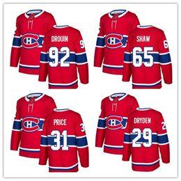 2018 New season Stitched Montreal Canadiens 6 Shea Weber 31 Carey Price 92 Jonathan Drouin Blank Ice Hockey Jerseys Red