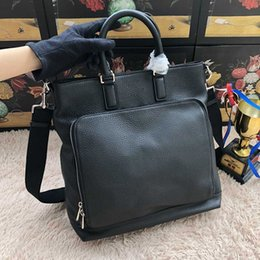 new famous Designers 100% genuine leather men's Briefcase Bags high quality Business men hand Bag for male 406463