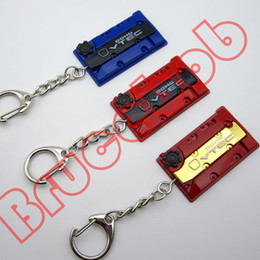 10 style Zinc alloy F20C racing car VTEC engine head cover Cylinder cap keychain keyring pendant for fans