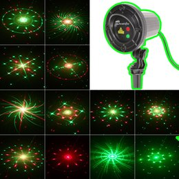 New Christmas light outdoor garden laser 24 patterns Christmas garland laser projector waterproof Christmas lights with remote controller