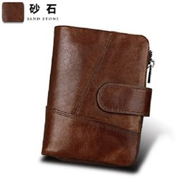 Exploding money for men's wallet, anti RFID leather wallet, crazy horse leather retro Wallet