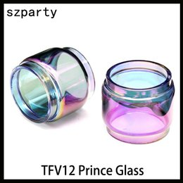 TFV12 prince glass rainbow 8ml Extended Bulb Fat Boy Pyrex Replacement Glass Tube for TFV12 Prince tank atomizer 0266182