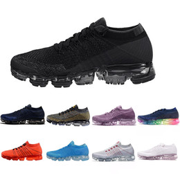 2018 New hotsale Rainbow VaporMax BE TRUE Shock Kids Running Shoes Fashion Children Casual Vapor Sports Shoes free shipping