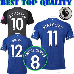 2018 2019 Everton Soccer Jersey 11 WALCOTT BAINES KEANE JAGIELKA BOLASIE KLAASSEN DAVIES Custom Home Blue Away Grey 18 19 Football Shirt