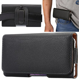 For iPhone X Belt Clip Case, Agele Black Leather Case with Clip Holster Carrying Pouch for Galaxy S8 S6 S7 S 6 Edge
