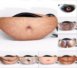 Popular Dad bod Crossbody Waist Bags Universal anti-theft invisible Beer Fat Belly Pack Fanny Bags Creative belt bag
