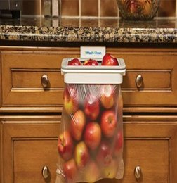 Hanging trash bag holder cabinet cupboard door back stand trash rack storage garbage bag trash holder