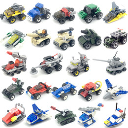 Cars Building Blocks Minifigs Fire truck police car Mini Figure Toys Ninja figures crane Raytheon Reconnaissance tank Excavator Many Cars