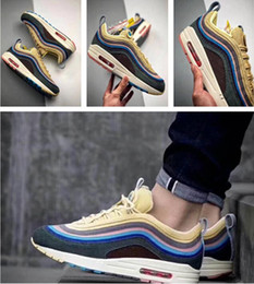 2018Maxxes1 97Wholesale New Sean Wotherspoon Men Running Shoes women Fashion yellow white High Quality Sports sneakers trainers Size 36-45