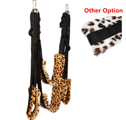 Ceiling Sex Swing Furniture Body Suspension Position Easy Penetration Adult Fetish Play Products Toys For Couples Leopard Print BX1108C