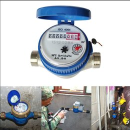 Wholesale-Single Flow Dry Cold Water Table 15mm Garden & Home Water Meter With Free Fittings