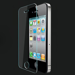 IPhone4s hd toughened membrane Department of transparent glass sticker for IPhone accessories 0.26mm arc edge With the packing