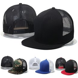 Fashion Summer Mesh Baseball Caps Hip Hop Men or Women Snapback Camouflage Flat Hats blank camo Sport 7 colors