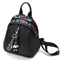 New black and white bear Oxford shoulder backpack 2018