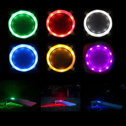 Freeship Cornhole LED light ring set for bean bag toss game cornhole light easy install high quality