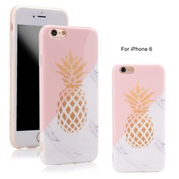 free ship Gold Pineapple Marble case for iphone 6s case silicone soft TPU back cover for iphone 6s 6 plus fundas coque capas high quality