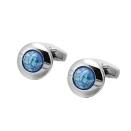 Quality Crystal Round Cufflinks Silver French Shirt Cuff Men's French Cuff nails Free shipping