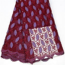 High-quality Swiss lace, pure cotton Swiss lace, used in African sewing clothing, evening dress sy1073
