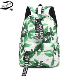 Fengdong school bags for teenage girls cute leave printing schoolbag  backpack children backpacks female laptop bag dropshipping 0e1cc0a82c827