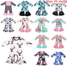 45style choose Baby Christmas Pajamas One Piece Baby Girls Rompers Floral Jumpsuit Baby Long Sleeve Romper Girls Boutique Clothing Onesies