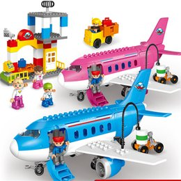 82 pieces large pellet sea and air assembly toy car airplane series model puzzle toy boy
