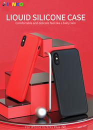 Official Liquid Silicone Case With LOGO For iPhone Xs Max Gel Rubber(LSR) Original Silicone Protective Cover for iPhone X Xr 8-7-6 Plus