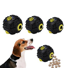 Dog tricky treat ball IQ treat ball interactive fod ispensing dog toy pet puppy sound leakage food ball squeaky chew toy size S M L