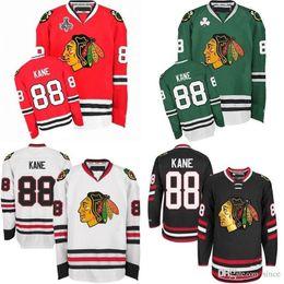 2017 New Chicago Blackhawks Mens 88 Patrick Kane Jersey Red White Cream Green Black 100% Stitched Best quality Ice Hockey Jerseys