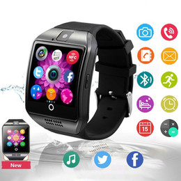 Universal Fashion Q18 Anti-lost Smartwatch Bluetooth Touch Screen Smart Wrist Watches For Android Phone with Camera TF Card NFC Connection
