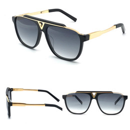 Popular fashion men vintage designer sunglasses MASCOT square 18k gold metal combination frame top quality anti-UV400 lens with blue box0936