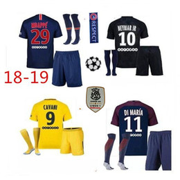 2018 Thailand Maillot de foot MBAPPE NEYMARs JR soccer jerseys psg jersey 18 19football shirt KIT paris saint germain survetement