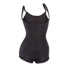 Wholesale Women Fitness Seamless Full Body Shapewear Open Bust Fashion Zipper Sexy Slimming Butt Lift Bodysuit