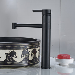 Free Shipping Bathroom Black Color Basin Sink Faucet Single Level Hot And Cold Water Copper Mixer Tap