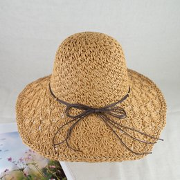 EPU-MH1807 Summer straw hat with memory-wire brim and sun UV protection hand crochet