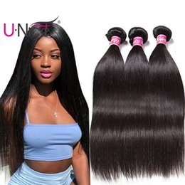 UNice Hair Virgin Brazilian Human Hair 3 Bundles Peruvian Straight Human Hair Weave Raw Indian Weave Bundles Malaysian Cheap Wholesale Bulk