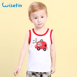 Wisefin Kids Boys Summer Cotton Vest Sleeveless Cartoon Soft Breathable Casual T-Shirt Child Tops Baby Toddler Boy Clothing