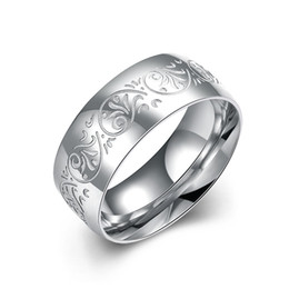 European and American fashion jewelry 316L stainless steel ring